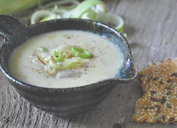 Potato Leek Soup with Gruyere