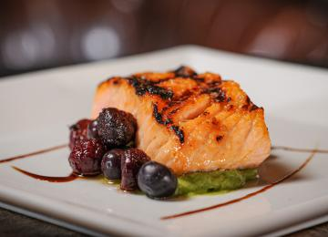 Grilled Salmon with Blueberry Salsa