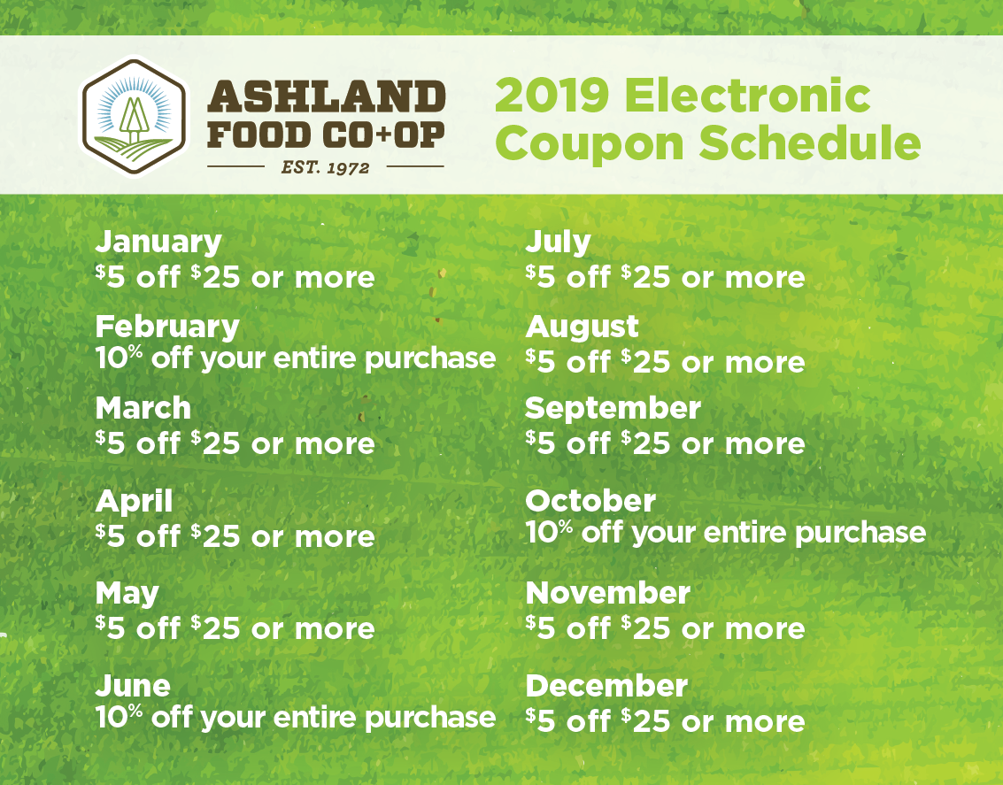 2019 Co-op owner benefit and coupon calendar