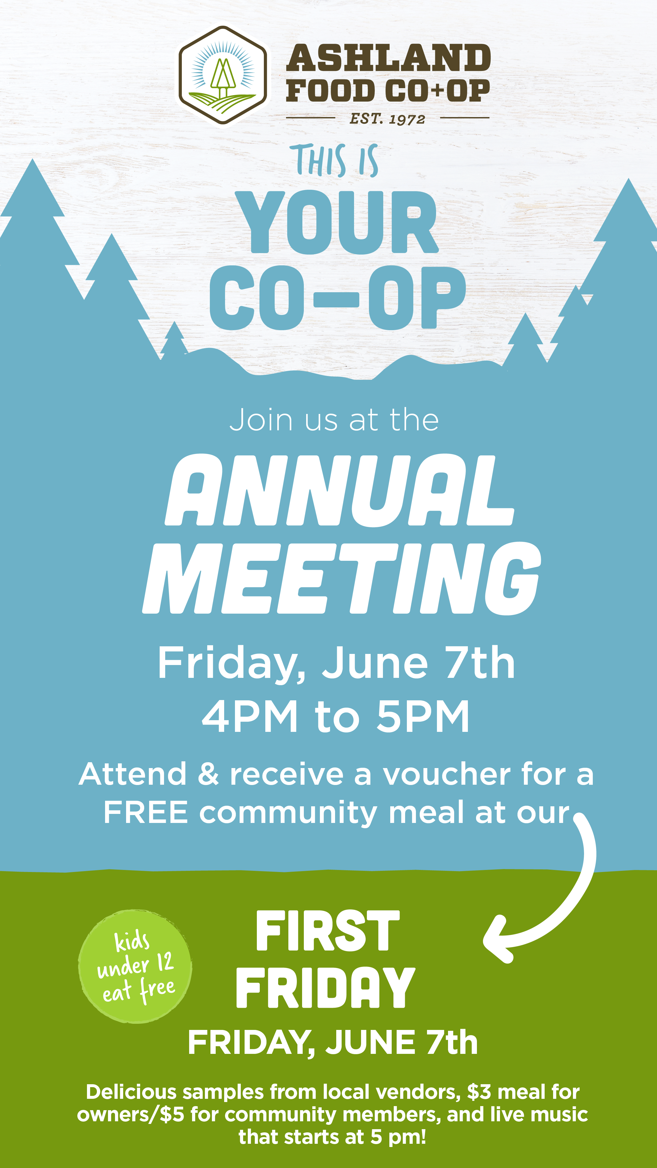 2019 Annual Meeting - 4-5pm at the Pioneer Conference Room