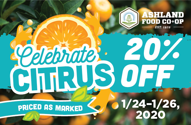 Citrus sale 20% off - 1/24-1/26!