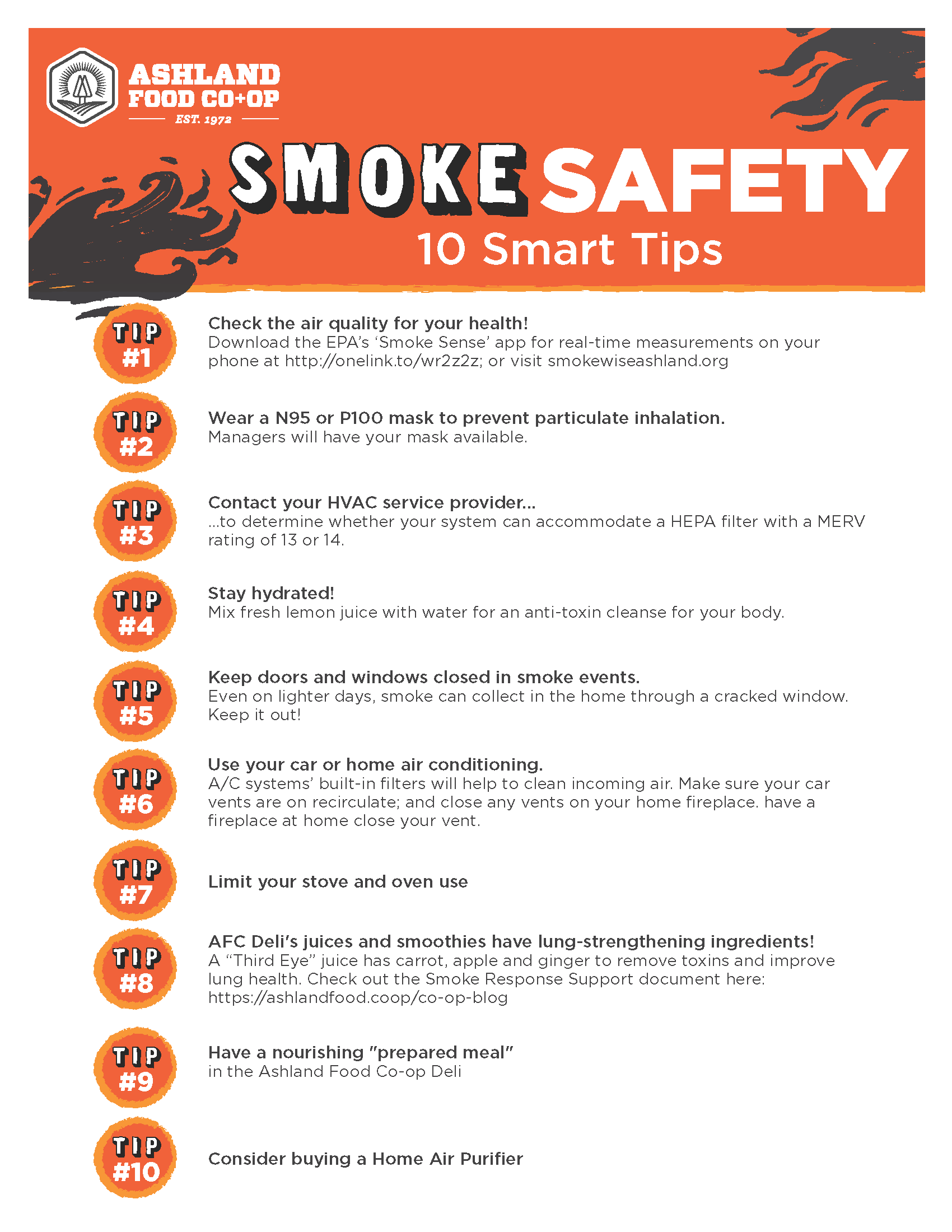 Smoke Safety Tips