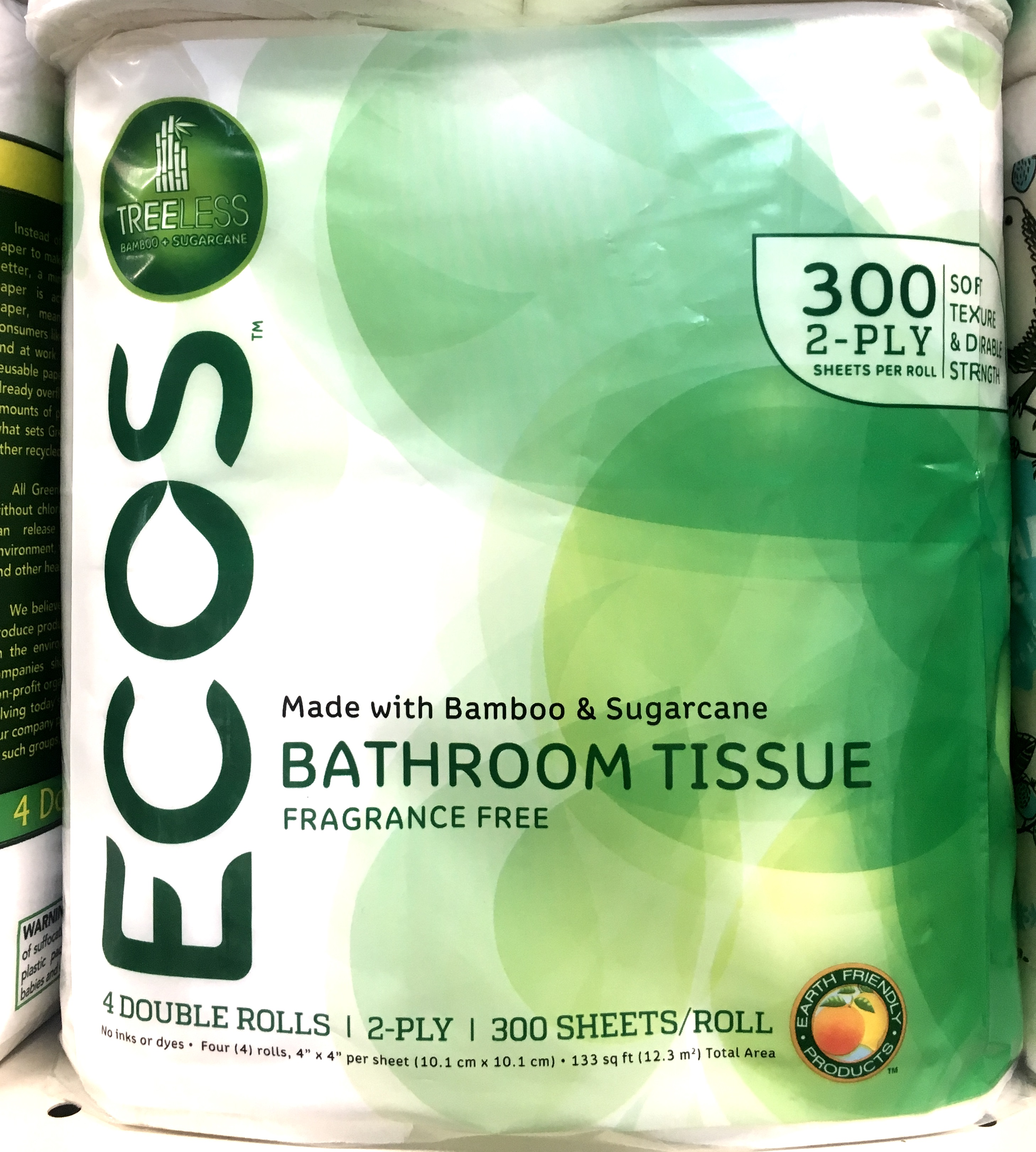 Bamboo-derived toilet paper