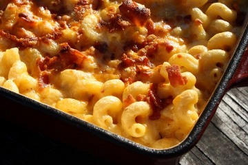 Bacon and Roasted Pumpkin 3 Cheese Macaroni